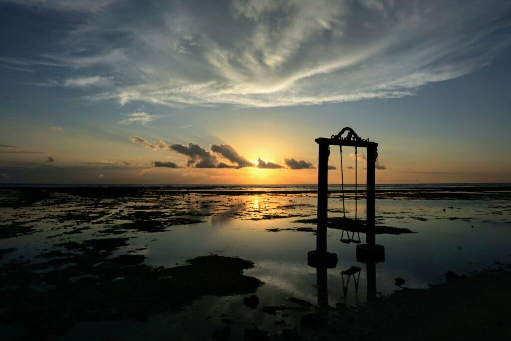Beach Swing at Instagram Paradise Nusa Penida, Bali, South East Asia