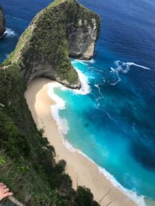 Looking down the coast of Instagram Paradise Nusa Penida, Bali, South East Asia