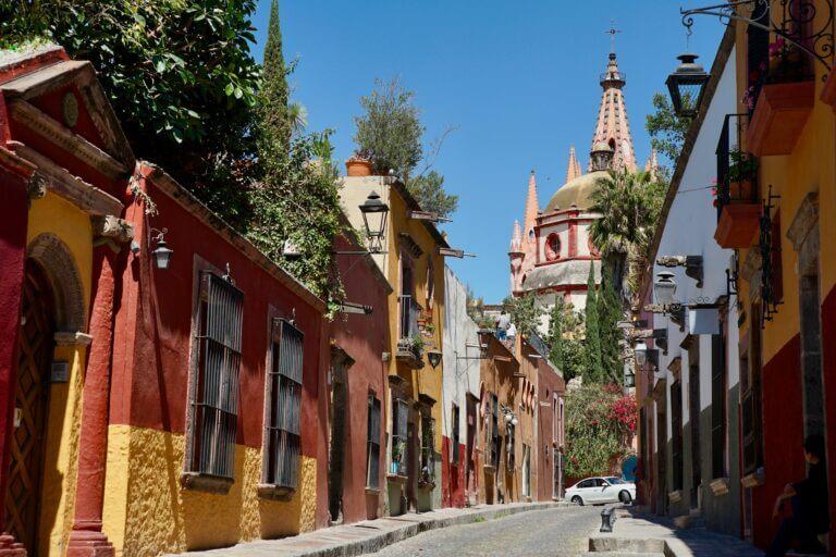 City street, Parroquia de San Miguel Arcángel, San Miguel de Allande, Mexico 10 Must Visit Budget Travel Destinations 2021 Chubby Diaries