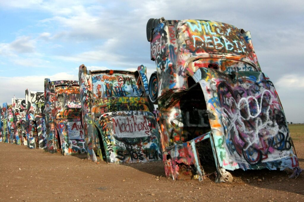 Cadillac Ranch, USA Tips for the Ultimate Road Trip