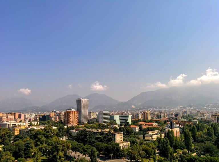 Tirana Albania Skyline