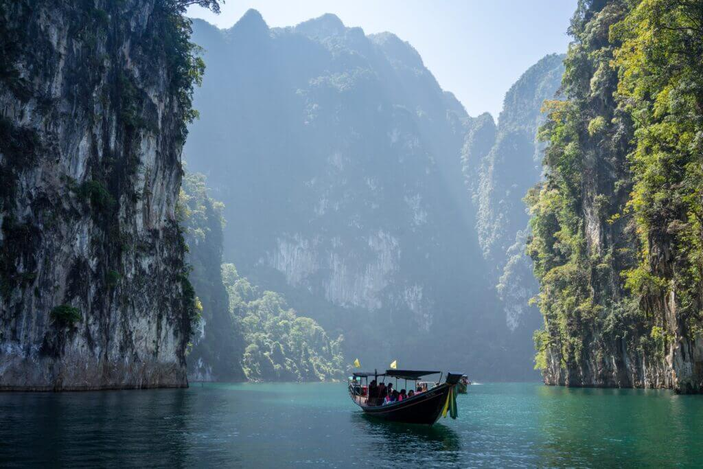 Boat Khao Sok National Park in Khlong Sok, Thailand 10 Must Visit Budget Travel Destinations 2021 Chubby Diaries