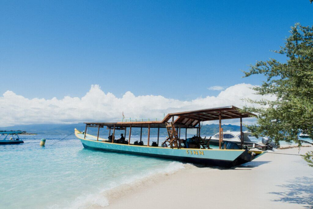 Boat on Coast of Instagram Paradise Nusa Penida, Bali, South East Asia